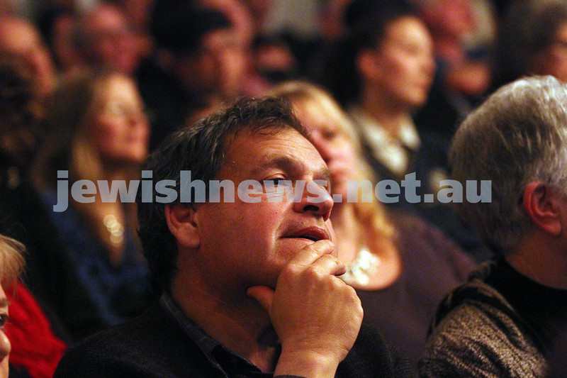 26-7-12. Part of the audience at the Holocaust Museum where the Prime Minister Julia Gillard announced a grant of $500,000 for Auschwitz memorial.  Photo: Peter Haskin