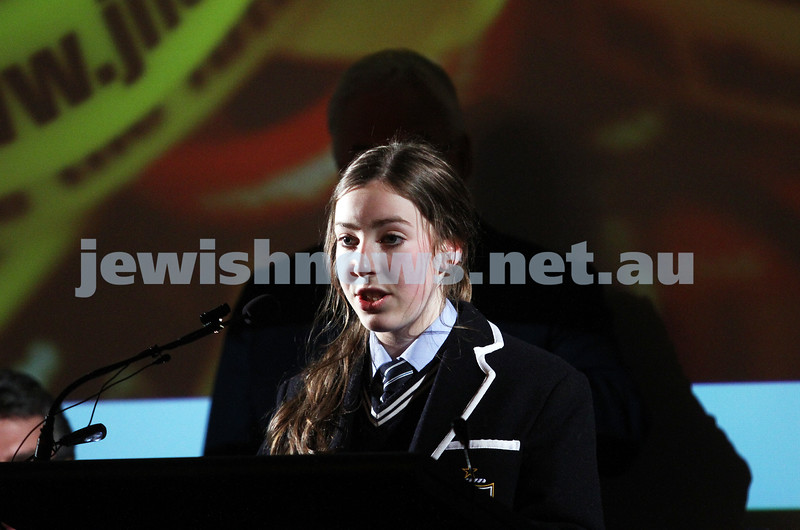 26-7-12. xxxxx spreaking at the Holocaust Museum and Research Centre in Melbourne. Photo: Peter Haskin