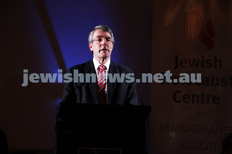 26-7-12. Mark Dreyfus speaking at the Jewish Holocaust Museum and Research Centre where the  $500,000 government grant for Auschwitz rememberence was announced. Photo: Peter Haskin