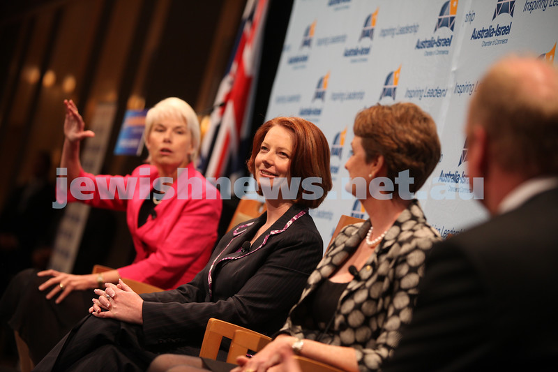 Prime minister Julia Gillard as part of a panel for the Australia Israel Chamber of Commerce in Sydney. Photo: Ingrid Shakenovsky