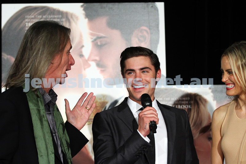 "11-4-12. The red carpet at the premier of ""The Lucky One"" with Zac Efron and Taylor Schilling. With director Scott Hicks. Village Cinemas, Crown Entertainent Complex. Photo: Peter Haskin"