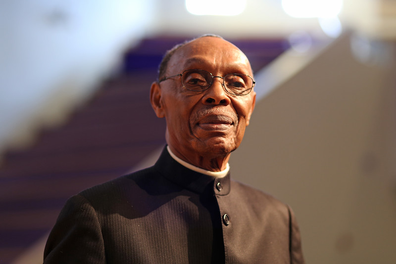 Rev. James Hall Jr. has been a preacher for 65 years and he's been at Triumph Baptist Church, 1648 W. Hunting Park Ave, Philadelphia for 47 years.  ( TONI FARINA / Staff Photographer )
