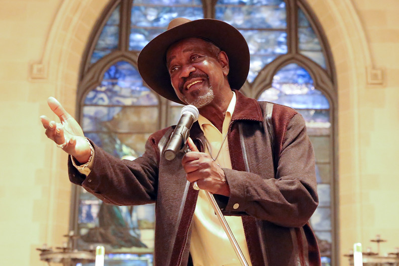Frank Bey, 70, who emerged from the Jim Crow South and a life of hard work and hard times to become a deeply soulful R&B singer, brings his heartfelt blues to St. Paul's Elkins Park at 7809 Old York Road, on October 8, 2016 ( TONI FARINA / Staff Photographer )