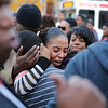 Ayesha Poole, mother of 8-year-old girl Jayanna Powell, who was struck and killed by a hit-run driver on Friday, holds her family at 63rd and Lansdowne Avenue in Philadelphia, on November 19, 2016.  ( TONI FARINA / Staff Photographer )