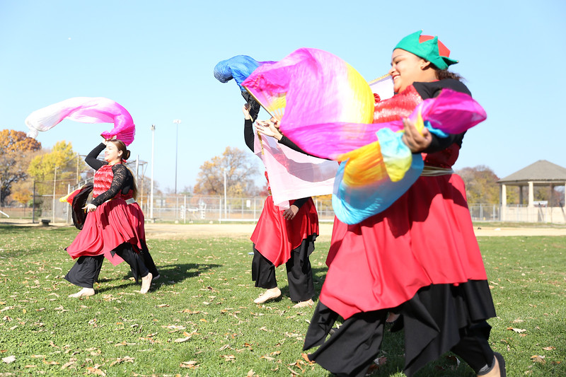 The Dreamchasers dance group from Iglesias Manto de Gloria church, perform during the Seasonal Unity Day festival at Hunting Park Recreation Center on November 19, 2016.  ( TONI FARINA / Staff Photographer )