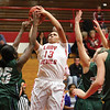 Jeffersonville senior Lakin Roland scores against South Oldham Tuesday night at Jeff.  Staff photo by C.E. Branham