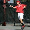 Jeffersonville no. 2 doubles player Logan Giles.  Staff photo by C.E. Branham