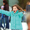 Seven-year-old Lily Haire of Jeffersonville glides across the Jeffersonville Ice Rink Monday afternoon.  Staff photo by C.E. Branham