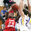 Jeffersonville sophomore Aurreeshae Hines puts up a shot against New Washington Tuesday night.  Staff photo by C.E. Branham