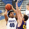 Charlestown sophomore Darren Taylor scores two against Scottsburg Friday night.  Staff photo by C.E. Branham