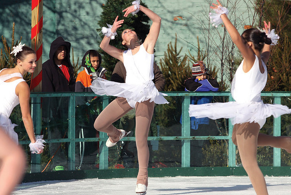Members of the Louisville Skating Academy performed scenes from Nutcracker On Ice Saturday morning at the Jeffersonville Ice Rink.  Staff photo by C.E. Branham