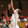 Jeffersonville guard Chelsie Marshall puts back a rebound for a basket against South Oldham Tuesday night.  Staff photo by C.E. Branham