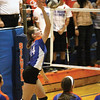 Silver Creek outside hitter Hannah Smith scores point for the Creekers Thursday night against Henryville.  Staff photo by C.E. Branham