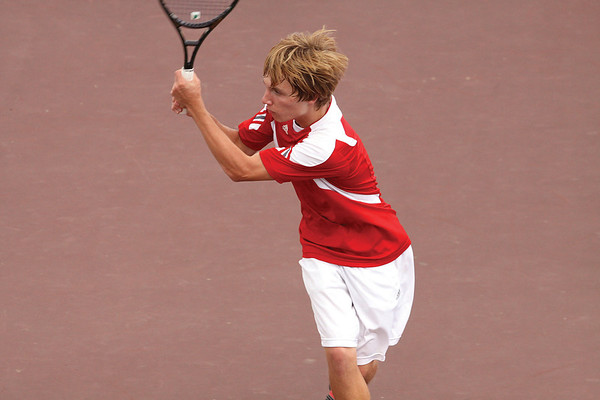 Jeffersonville no. 1 singles player Jordy Rigsby.  Staff photo by C.E. Branham