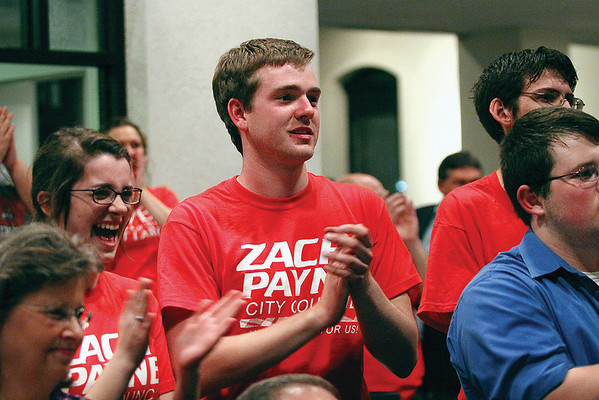 Zach Payne, District 3 council, defeated Independent Eric Hedrick and Democrat Janice Sinkhorn.  Staff photo by C.E. Branham