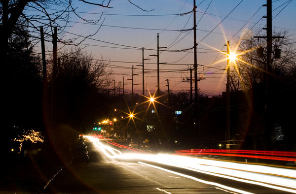 Traffic moves eastbound and westbound along East Main Street in New Albany on Tuesday evening. Plans have been approved for an improvement project between East Fifth and Vincennes streets. Staff photo by Christopher Fryer
