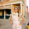 Owner Laura Buckingham stands in front of her bakery Bread and Breakfast at the corner of Bank and Main streets in downtown New Albany. Staff photo by Christopher Fryer