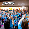 Community Montessori students dance in a flash mob at Green Tree Mall in Clarksville on Thursday. Students participated in the event to promote a fearlessness in being themselves while learning a lesson outside of the classroom. Staff photo by Jerod Clapp