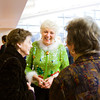 Floyd Memorial Foundation Executive Director Ruth Heideman, center, visits with Betty Morgan, left, Sellersburg, and Phyllis Huckabone, New Albany, during her retirement reception in the cafeteria at Floyd Memorial Hospital in New Albany on Wednesday afternoon. Staff photo by Christopher Fryer