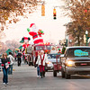 The Light Up Holiday Parade moves down Spring Street in downtown Jeffersonville on Saturday evening. Staff photo by Christopher Fryer