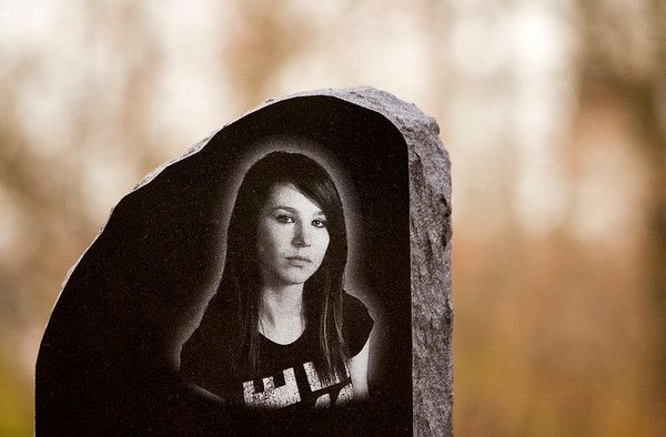 Tara Willenborg's tombstone sits on its location in Walnut Ridge Cemetery in Jeffersonville. Willenborg was found dead inside her Clarksville apartment after allegedly being raped and strangled by Richard Carly Hooten Jr. in early March of this year. Staff photo by Christopher Fryer