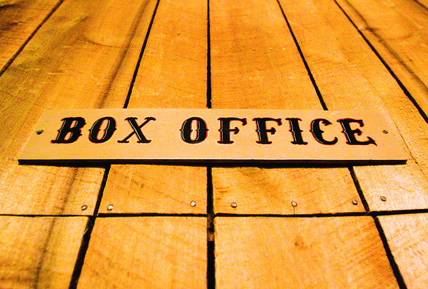 The sign for the box office hangs in the lobby of the Clarksville Little Theater. Staff photo by Christopher Fryer