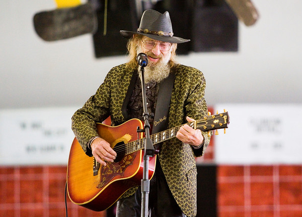 Hugh E. Bir performs during the We Built This City Harvest Homecoming Luncheon along the New Albany riverfront on Friday afternoon. Staff photo by Christopher Fryer