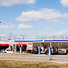 The newly rebuilt Marathon gas station sits on its location along Ind. 160 in Henryville on Saturday afternoon. The business was destroyed last year when the March 2 tornadoes hit the town. Staff photo by Christopher Fryer
