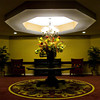 A centerpiece decorates a table in the center of the second floor elevator lobby at The Villages at Historic Silvercrest retirement and senior living facility in New Albany on Tuesday afternoon. Staff photo by Christopher Fryer