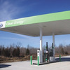 Construction of Clean Energy, a compressed natural gas filling station for vehicles, is nearly complete.  The station is located on U.S. 31 at the intersection of Ind. 60.  Staff photo by C.E. Branham