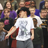 "Spring Hill Elementary School third-grader Jhordon Burleson danced as his classmates sang Michael Jackson song ""Black or White"" to close their program Tuesday in honor of Black History Month.  Staff photo by C.E. Branham"