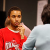 Tyrone Baker, a senior at New Albany High School, answers questions during a mock interview at the Prosser Career Education Center. The interviews were designed to give students an idea of what professional job interviews are like, as well as help them brush up on their skills. Staff photo by Jerod Clapp