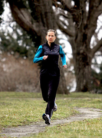 Charlestown resident Traci Falbo has run 79 marathons since 2004. Staff photo by C.E. Branham
