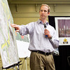 Section one project manager Nick Faul speaks during a pre-construction media briefing on the Ohio River Bridges Project Downtown Crossing in the Willow Room at the Galt House in downtown Louisville on Wednesday morning. Staff photo by Christopher Fryer
