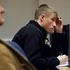 R.J. Jenkins takes notes on the first day of class in the Ivy Institute of Technology, Ventilation and Air Conditioning (HVAC) program.  The institute is a 30-week program that meets six hours per day, five days per week.  Students, after completing the course, will be prepared for entry or mid-level jobs.  Staff photo by C.E. Branham