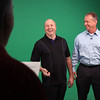 New Albany mayor Jeff Gahan and Jeffersonville mayor Mike Moore have a laugh while filming a commercial for The Mayor's Cup at the ProMedia Group studio Tuesday morning. The Mayor's Cup, held May 7 at Hidden Creek Golf Club, is a annual tournament in support of Graceland Baptist Church community recreation. Staff photo by C.E. Branham