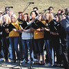 "Members of the Henryville High School Choir perform ""My Old Kentucky Home"" and ""(Back Home Again in) Indiana"" at the East End Bridge Crossing groundbreaking Thursday. Staff photo by C.E. Branham"