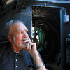Ninety-three-year-old WWII veteran Wayne Tabor took a flight on the B-17 out of Clark County Airport on Monday. Tabor was a waist gunner on a B-24 bomber in the war. Staff photo by C.E. Branham