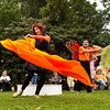 "Performance partners Rebecca Henderson, left, Louisville, and Dave Kannapell, Prospect, Ky, perform a dance celebrating the spirit of the Monarch butterfly to the song ""Unbound"" by Robbie Robertson during the annual Monarch Celebration at the Arts Council of Southern Indiana in New Albany on Saturday afternoon. Staff photo by Christopher Fryer"