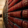 Public records sit shelved inside a legal records storage room in the basement of the Clark County Government Building in Jeffersonville on Thursday. Officials are working on a plan to improve storage and security for the legal documents. Staff photo by Christopher Fryer