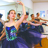 Jade Dailey, foreground, an other classical ballet students practice at the Weber School of Dance in Jeffersonville on Thursday afternoon. The school turns 65 this weekend. Staff photo by C.E. Branham