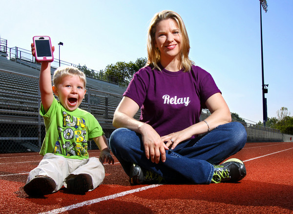 Michelle Cunningham, photographed with her son Dylan, is the American Cancer Society Relay For Life chair for Clark County. Staff photo by C.E. Branham
