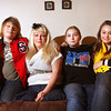 Lorrie Stevens and her children Brendan, Devin and Sydney. Staff photo by C.E. Branham