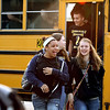 Henryville students get off the bus to attend classes at Mid-America Science Park in Scottsburg, Ind., on Monday, April 2. Henryville Middle and High School students have been out of class since their school was heavily damaged by the March 2 tornadoes. Staff photo by C.E. Branham