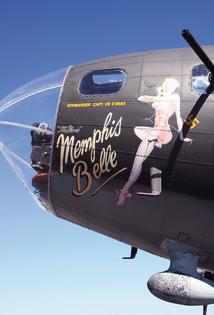 "The WWII era plane, used in the movie ""Memphis Belle,"" will be at the Clark County Airport Saturday and Sunday for flights and tours. Staff photo by C.E. Branham"