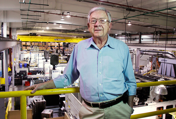 Bill Beach, CEO and owner of Beach Mold & Tool, stands in the manufacturing facility of their New Albany location on Wednesday afternoon. Staff photo by Christopher Fryer
