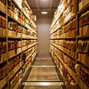 Public records sit on sliding shelves inside the Court Storage Room in the basement of the Clark County Government Building in Jeffersonville on Thursday. Officials are working on a plan to improve storage and security for the legal documents. Staff photo by Christopher Fryer