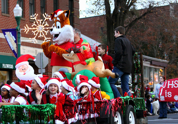 The Light Up the Holidays Parade Saturday night in downtown Jeffersonville. Staff photo by C.E. Branham