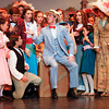 "Clay Gulley, center, performs in one of the opening musical numbers in Floyd Central's production of ""The Music Man"" during a dress rehearsal on Thursday. The show opens Friday night. Staff photo by Jerod Clapp"