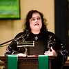 Mary Todd Lincoln interpreter Donna McCreary, Charlestown, speaks during a commemoration of the 150th anniversary of Abraham Lincoln's Gettysburg Address at St. Paul's Episcopal Church in Jeffersonville on Saturday afternoon. Staff photo by Christopher Fryer